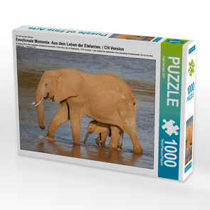 CALVENDO Puzzle Emotionale Momente: Aus dem Leben der Elefanten. / CH-Version 1000 Teile Lege-Größe 64 x 48 cm Foto-Puzzle Bild von Ingo Gerlach GDT