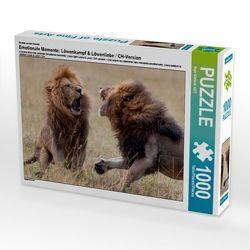 CALVENDO Puzzle Emotionale Momente: Löwenkampf & Löwenliebe / CH-Version 1000 Teile Lege-Größe 64 x 48 cm Foto-Puzzle Bild von Ingo Gerlach GDT von Gerlach GDT,  Ingo