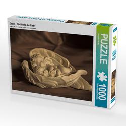 CALVENDO Puzzle Engel – Die Worte der Liebe 1000 Teile Lege-Größe 64 x 48 cm Foto-Puzzle Bild von Andrea Potratz