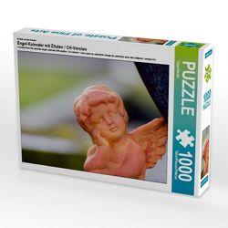 CALVENDO Puzzle Engel-Kalender mit Zitaten / CH-Version 1000 Teile Lege-Größe 64 x 48 cm Foto-Puzzle Bild von Tanja Riedel von Riedel,  Tanja