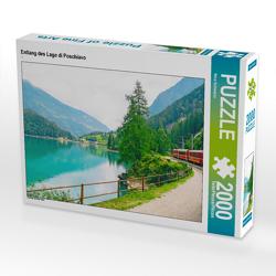 CALVENDO Puzzle Entlang des Lago di Poschiavo 2000 Teile Lege-Größe 90 x 67 cm Foto-Puzzle Bild von Nina Schwarze