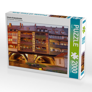 CALVENDO Puzzle Erfurts Krämerbrücke 2000 Teile Lege-Größe 90 x 67 cm Foto-Puzzle Bild von Flori0