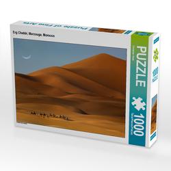 CALVENDO Puzzle Erg Chebbi, Merzouga, Morocco 1000 Teile Lege-Größe 64 x 48 cm Foto-Puzzle Bild von Christian Heeb