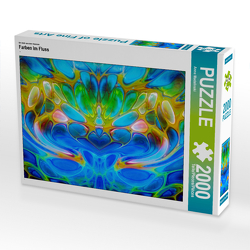 CALVENDO Puzzle Farben im Fluss 2000 Teile Lege-Größe 90 x 67 cm Foto-Puzzle Bild von Anne Madalinski