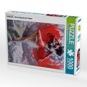CALVENDO Puzzle Farbspiele – Akt im Rausch der Farben 1000 Teile Lege-Größe 48 x 64 cm Foto-Puzzle Bild von Ulrich Allgaier – www.ullision.com