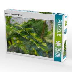 CALVENDO Puzzle Farnblatt – Wellen naturgeformt 2000 Teile Lege-Größe 90 x 67 cm Foto-Puzzle Bild von Antje Trenka