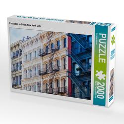 CALVENDO Puzzle Fassaden in Soho, New York City 2000 Teile Lege-Größe 90 x 67 cm Foto-Puzzle Bild von Christian Müller