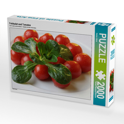 CALVENDO Puzzle Feldsalat und Tomaten 2000 Teile Lege-Größe 90 x 67 cm Foto-Puzzle Bild von Stefan Weis