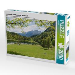 CALVENDO Puzzle Ferchensee und Karwendel, Mittenwald 2000 Teile Lege-Größe 90 x 67 cm Foto-Puzzle Bild von SusaZoom