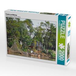 CALVENDO Puzzle Fischer am Mekong 2000 Teile Lege-Größe 90 x 67 cm Foto-Puzzle Bild von Harry Müller