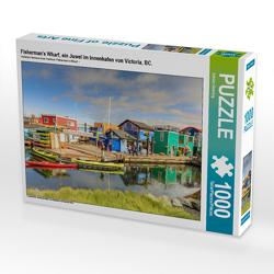 CALVENDO Puzzle Fisherman's Wharf, ein Juwel im Innenhafen von Victoria, BC. 1000 Teile Lege-Größe 64 x 48 cm Foto-Puzzle Bild von Adrian Geering