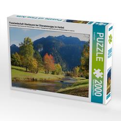 CALVENDO Puzzle Flusslandschaft Oberbayern bei Oberammergau im Herbst 2000 Teile Lege-Größe 90 x 67 cm Foto-Puzzle Bild von SusaZoom