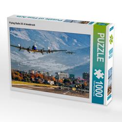CALVENDO Puzzle Flying Bulls DC-6 Innsbruck 1000 Teile Lege-Größe 64 x 48 cm Foto-Puzzle Bild von N N
