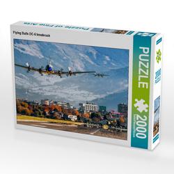 CALVENDO Puzzle Flying Bulls DC-6 Innsbruck 2000 Teile Lege-Größe 90 x 67 cm Foto-Puzzle Bild von N N