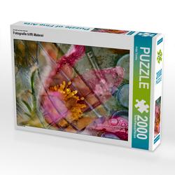 CALVENDO Puzzle Fotografie trifft Malerei 2000 Teile Lege-Größe 67 x 90 cm Foto-Puzzle Bild von Antje Trenka