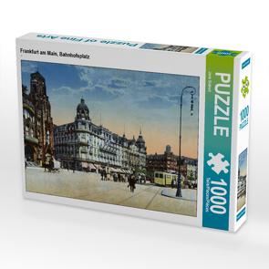 CALVENDO Puzzle Frankfurt am Main, Bahnhofsplatz 1000 Teile Lege-Größe 64 x 48 cm Foto-Puzzle Bild von Jens Siebert