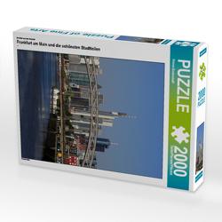 CALVENDO Puzzle Frankfurt am Main und die schönsten Stadtteilen 2000 Teile Lege-Größe 67 x 90 cm Foto-Puzzle Bild von Petrus Bodenstaff