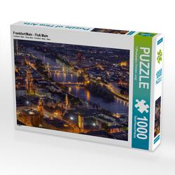 CALVENDO Puzzle Frankfurt/Main – Fluß Main 1000 Teile Lege-Größe 64 x 48 cm Foto-Puzzle Bild von TJPhotography (Thorsten Jung)