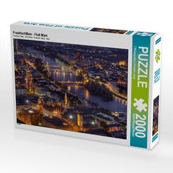 CALVENDO Puzzle Frankfurt/Main – Fluß Main 2000 Teile Lege-Größe 90 x 67 cm Foto-Puzzle Bild von TJPhotography (Thorsten Jung)