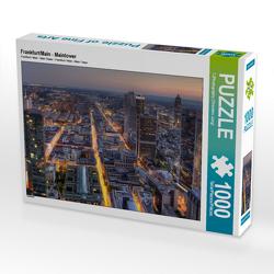 CALVENDO Puzzle Frankfurt/Main – Maintower 1000 Teile Lege-Größe 64 x 48 cm Foto-Puzzle Bild von TJPhotography (Thorsten Jung)