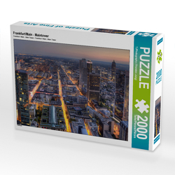 CALVENDO Puzzle Frankfurt/Main – Maintower 2000 Teile Lege-Größe 90 x 67 cm Foto-Puzzle Bild von TJPhotography (Thorsten Jung)