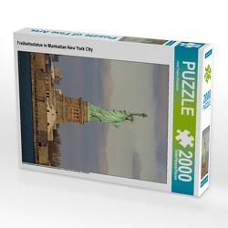 CALVENDO Puzzle Freiheitsstatue in Manhattan New York City 2000 Teile Lege-Größe 67 x 90 cm Foto-Puzzle Bild von Jana Thiem-Eberitsch