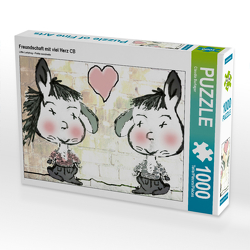 CALVENDO Puzzle Freundschaft mit viel Herz CB 1000 Teile Lege-Größe 64 x 48 cm Foto-Puzzle Bild von Claudia Burlager