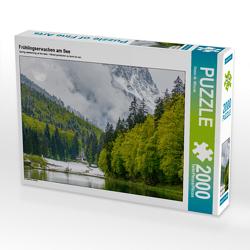 CALVENDO Puzzle Frühlingserwachen am See 2000 Teile Lege-Größe 90 x 67 cm Foto-Puzzle Bild von Dieter-M. Wilczek