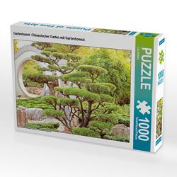 CALVENDO Puzzle Gartenkunst: Chinesischer Garten mit Gartenbonsai. 1000 Teile Lege-Größe 64 x 48 cm Foto-Puzzle Bild von CALVENDO