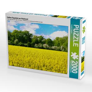 CALVENDO Puzzle Gelbes Rapsfeld am Waldrand 2000 Teile Lege-Größe 90 x 67 cm Foto-Puzzle Bild von Karsten Suppelt