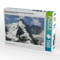 CALVENDO Puzzle Gipfel des Großglockner Massives. Hohe Tauern in Österreich. 1000 Teile Lege-Größe 64 x 48 cm Foto-Puzzle Bild von Anja Frost