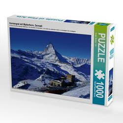 CALVENDO Puzzle Gornergrat mit Matterhorn. Zermatt 1000 Teile Lege-Größe 64 x 48 cm Foto-Puzzle Bild von Susan Michel / CH