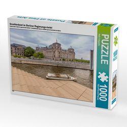 CALVENDO Puzzle Grachtenboot im Berliner Regierungsviertel 1000 Teile Lege-Größe 64 x 48 cm Foto-Puzzle Bild von ReDi Fotografie von Fotografie,  ReDi