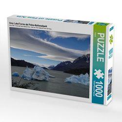 CALVENDO Puzzle Grey Lake/Torres del Paine-Nationalpark 1000 Teile Lege-Größe 64 x 48 cm Foto-Puzzle Bild von Flori0