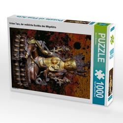 CALVENDO Puzzle Grüne Tara, der weibliche Buddha des Mitgefühls 1000 Teile Lege-Größe 48 x 64 cm Foto-Puzzle Bild von Bernd Maertens