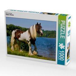 CALVENDO Puzzle Gypsy Horses 1000 Teile Lege-Größe 64 x 48 cm Foto-Puzzle Bild von weh-zet von weh-zet,  k.A.