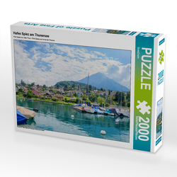 CALVENDO Puzzle Hafen Spiez am Thunersee 2000 Teile Lege-Größe 90 x 67 cm Foto-Puzzle Bild von SusaZoom