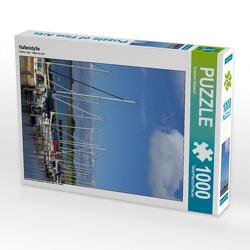 CALVENDO Puzzle Hafenidylle 1000 Teile Lege-Größe 48 x 64 cm Foto-Puzzle Bild von Susanne Herppich