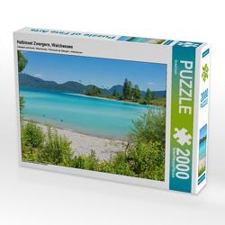 CALVENDO Puzzle Halbinsel Zwergern, Walchensee 2000 Teile Lege-Größe 90 x 67 cm Foto-Puzzle Bild von SusaZoom