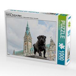 CALVENDO Puzzle Hamburg – Stadt der Möpse 1000 Teile Lege-Größe 64 x 48 cm Foto-Puzzle Bild von Ole und Julia Dodeck von und Julia Dodeck,  Ole