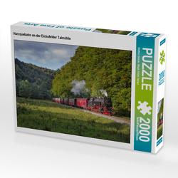 CALVENDO Puzzle Harzquebahn an der Eichsfelder Talmühle 2000 Teile Lege-Größe 90 x 67 cm Foto-Puzzle Bild von Steffen Gierok