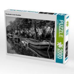 CALVENDO Puzzle Hausboote in den Grachten 2000 Teile Lege-Größe 90 x 67 cm Foto-Puzzle Bild von kattobello