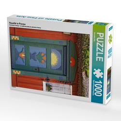 CALVENDO Puzzle Haustür in Prerow 1000 Teile Lege-Größe 48 x 64 cm Foto-Puzzle Bild von Veronika Rix