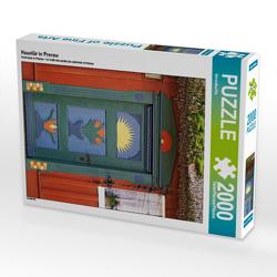 CALVENDO Puzzle Haustür in Prerow 2000 Teile Lege-Größe 67 x 90 cm Foto-Puzzle Bild von Veronika Rix