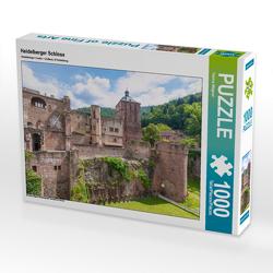 CALVENDO Puzzle Heidelberger Schloss 1000 Teile Lege-Größe 64 x 48 cm Foto-Puzzle Bild von Hanna Wagner