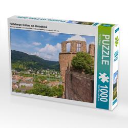 CALVENDO Puzzle Heidelberger Schloss mit Altstadtblick 1000 Teile Lege-Größe 64 x 48 cm Foto-Puzzle Bild von Hanna Wagner