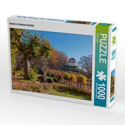CALVENDO Puzzle Herbst in Diesbar-Seußlitz 1000 Teile Lege-Größe 64 x 48 cm Foto-Puzzle Bild von Birgit Seifert