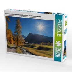 CALVENDO Puzzle Herbstlandschaft Malerisches Sertigtal in den Schweizer Alpen 2000 Teile Lege-Größe 90 x 67 cm Foto-Puzzle Bild von SusaZoom