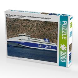 CALVENDO Puzzle High Speed Fähre Aeolos Kenteris I von Nel Lines unterwegs in der Ägäis 2000 Teile Lege-Größe 90 x 67 cm Foto-Puzzle Bild von Inga Loh