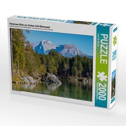 CALVENDO Puzzle Hintersee Blick zur Hohen Göll-Westwand 2000 Teile Lege-Größe 90 x 67 cm Foto-Puzzle Bild von Dieter-M. Wilczek